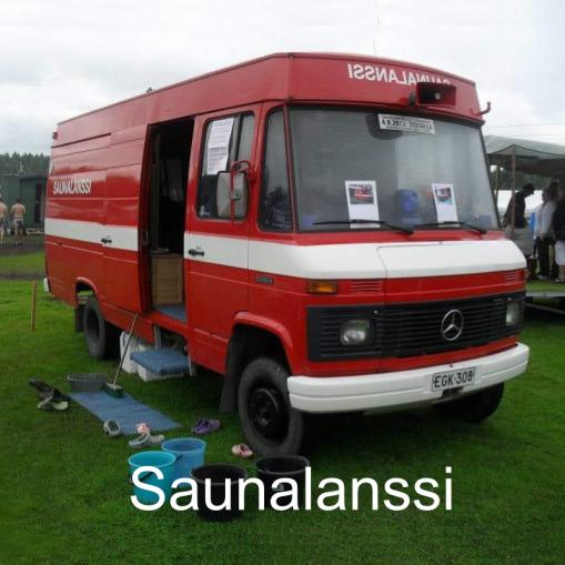"""""""Vanha paloauto uusiokäytössä!"""" Saunalanssi, Peräseinäjoki."""