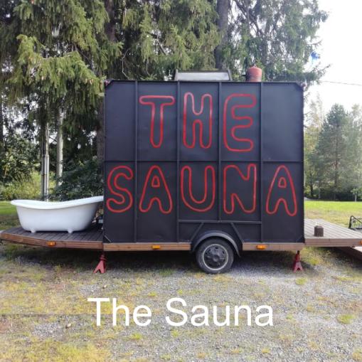 """""""The Saunassalämpenee varpaakkin."""" The Sauna, Akaa."""