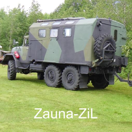 """May the Sauna Force be with You – Zauna-ZiL – Olkoot Saunavoimat kanssasi."" Zauna-ZiL, Teuva."