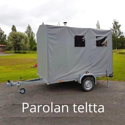"""""""Pressukankaasta valmistettu"""" Parolan teltta, Parola"""